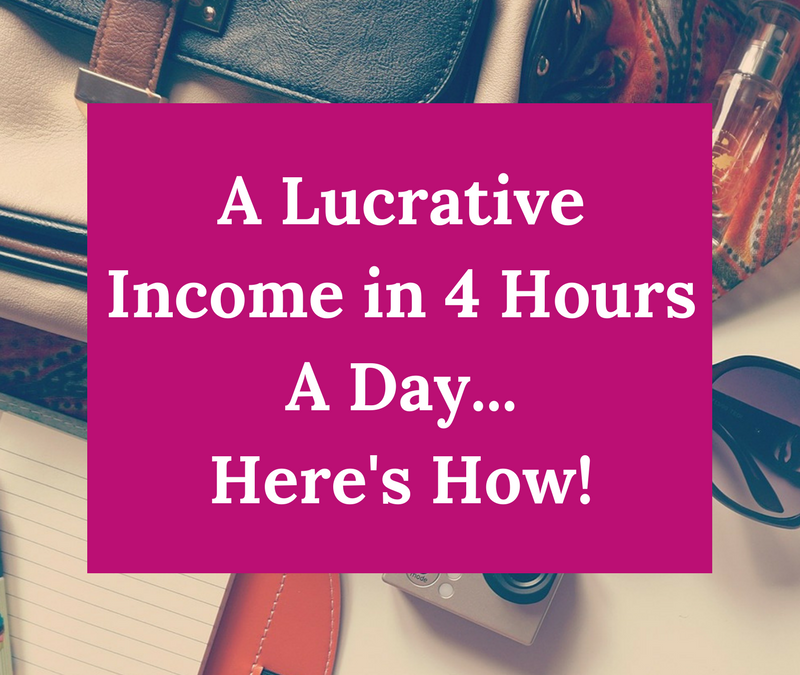 A Simple Strategy to Make Great Money In Only 4 Hours A Day