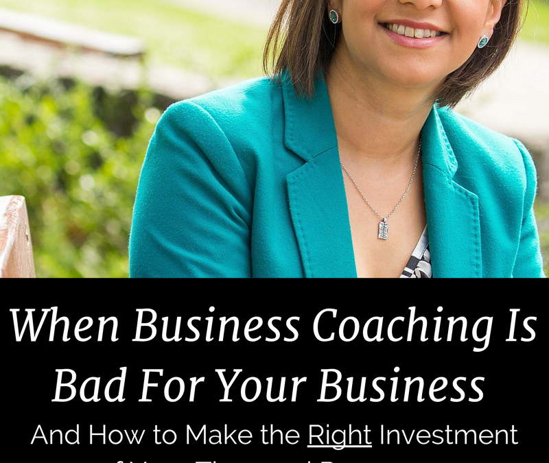 When Business Coaching Is Bad For Your Business (And How to Fix This!)