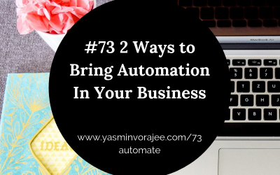 #73: Two Ways to Bring Automation In Your Business